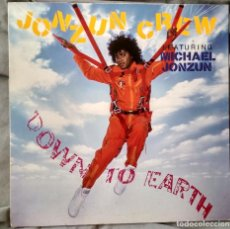 Discos de vinilo: JONZUN CREW - DOWN TO EARTH. LP 1984. Lote 104016471