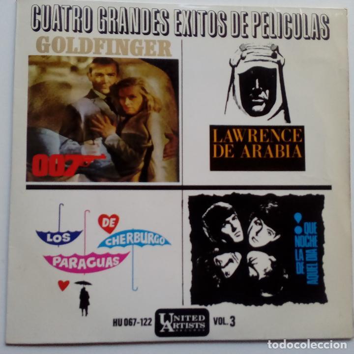 THE BEATLES- QUE NOCHE LA DE AQUEL DIA- CUATRO GRANDES EXITOS DE PELICULAS- EP SPAIN 1965- EXC. (Música - Discos de Vinilo - EPs - Bandas Sonoras y Actores)