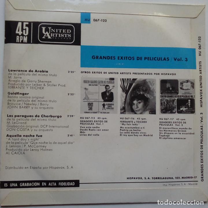 Discos de vinilo: THE BEATLES- QUE NOCHE LA DE AQUEL DIA- CUATRO GRANDES EXITOS DE PELICULAS- EP SPAIN 1965- EXC. - Foto 2 - 104039351