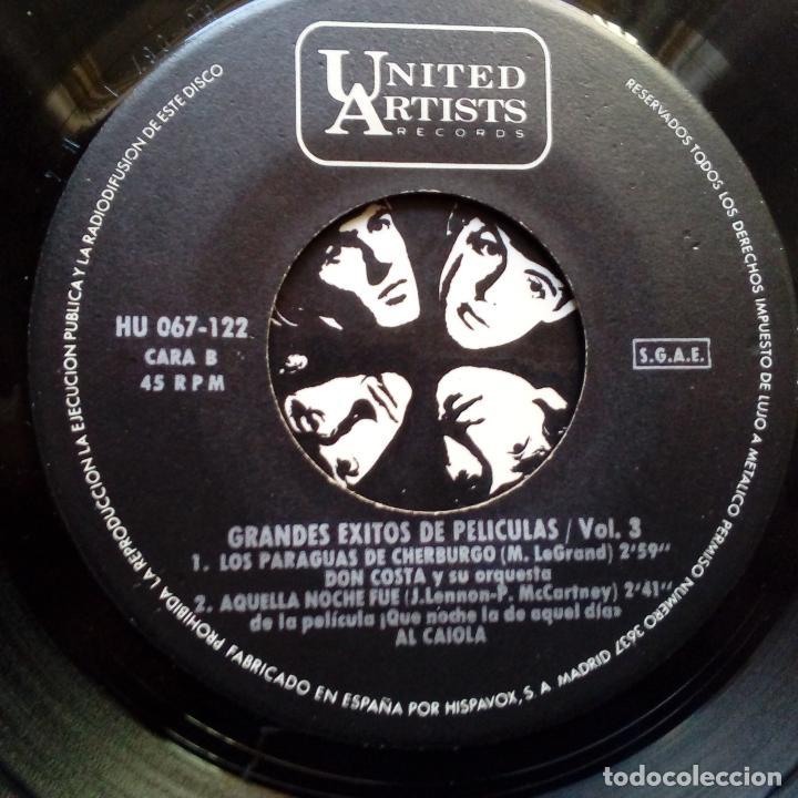 Discos de vinilo: THE BEATLES- QUE NOCHE LA DE AQUEL DIA- CUATRO GRANDES EXITOS DE PELICULAS- EP SPAIN 1965- EXC. - Foto 3 - 104039351