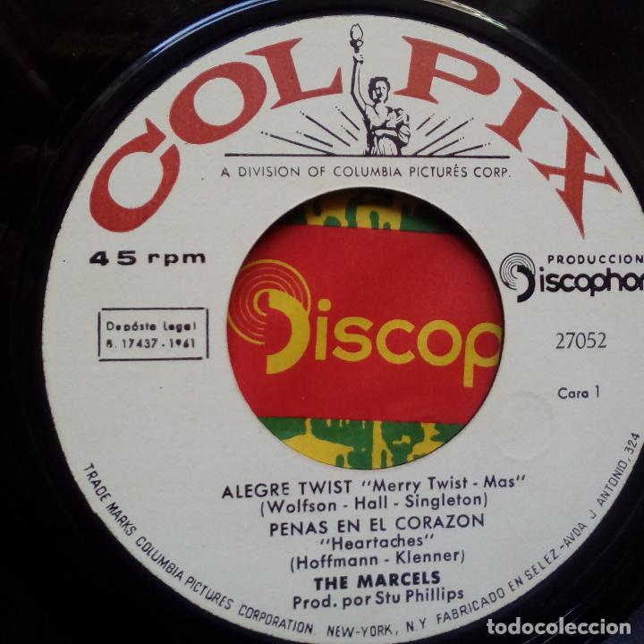 Discos de vinilo: THE MARCELS - OLIVER AND THE TWISTERS- TWIST + 3- SPAIN EP 1961 - EXC. ESTADO. - Foto 4 - 104041043