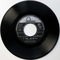 Discos de vinilo: JANE BIRKIN & SERGE GAINSBOURG - JE T'AIME...MOI NON PLUS - SINGLE FONTANA 1969 ITALIA MONO BPY. Lote 104047127