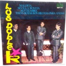 Discos de vinilo: LOS DOBLE R - MALDITA- ESTAS BOTAS SON HECHAS PARA ANDAR +2 - EP 1966- EN BUEN ESTADO.. Lote 104047819