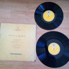 Discos de vinilo: BEETHOVEN 2 DISCOS Y ALBUM 1952 1A. EDICIÓN ALEMANIA DEUTSCHE GRAMMOPHON GESELLSCHAFT IX SINFONIE. Lote 104060871