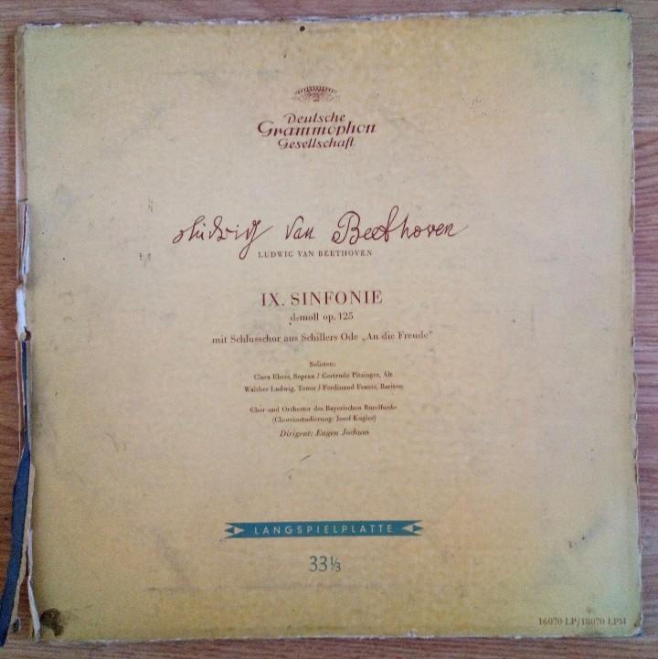 Discos de vinilo: BEETHOVEN 2 DISCOS Y ALBUM 1952 1a. EDICIÓN ALEMANIA DEUTSCHE GRAMMOPHON GESELLSCHAFT IX SINFONIE - Foto 2 - 104060871