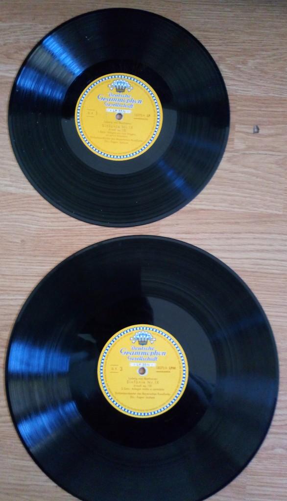 Discos de vinilo: BEETHOVEN 2 DISCOS Y ALBUM 1952 1a. EDICIÓN ALEMANIA DEUTSCHE GRAMMOPHON GESELLSCHAFT IX SINFONIE - Foto 3 - 104060871