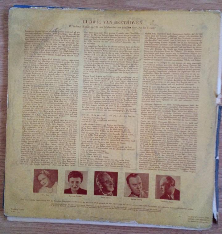 Discos de vinilo: BEETHOVEN 2 DISCOS Y ALBUM 1952 1a. EDICIÓN ALEMANIA DEUTSCHE GRAMMOPHON GESELLSCHAFT IX SINFONIE - Foto 4 - 104060871
