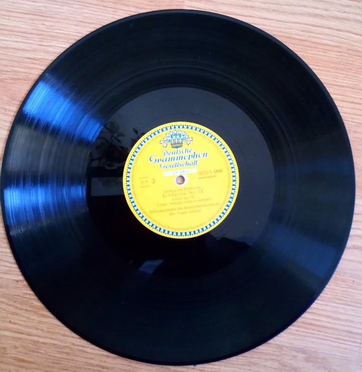 Discos de vinilo: BEETHOVEN 2 DISCOS Y ALBUM 1952 1a. EDICIÓN ALEMANIA DEUTSCHE GRAMMOPHON GESELLSCHAFT IX SINFONIE - Foto 11 - 104060871