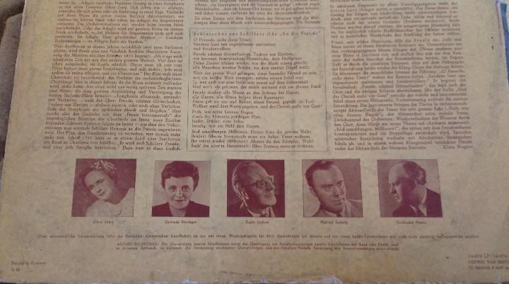 Discos de vinilo: BEETHOVEN 2 DISCOS Y ALBUM 1952 1a. EDICIÓN ALEMANIA DEUTSCHE GRAMMOPHON GESELLSCHAFT IX SINFONIE - Foto 12 - 104060871