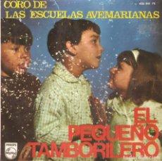 Discos de vinilo: CORO DE LAS ESCUELAS AVEMARIANAS - EL PEQUEÑO TAMBORILERO + ZARANDAN + CUATRO VESTIDITOS..EP 1966. Lote 104065275