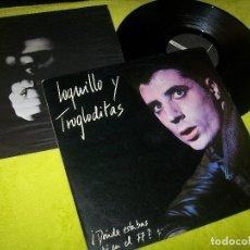 Discos de vinilo: LOQUILLO Y TROGLODITAS - DONDE ESTABAS TU EN EL 77 ..CON HOJA INTERIOR ..LP DE 1984 - TRES CIPRES. Lote 104088799