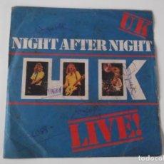 Discos de vinilo: UK - NIGHT AFTER NIGHT. Lote 104090947