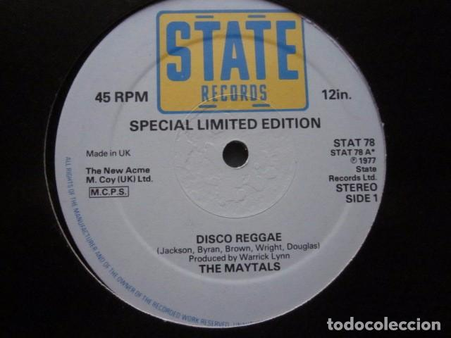 Discos de vinilo: THE MAYTALS - DISCO REGGAE - MAXI - 2 TEMAS - SPECIAL LIMITED EDITION FROM 1977. - Foto 2 - 114844183