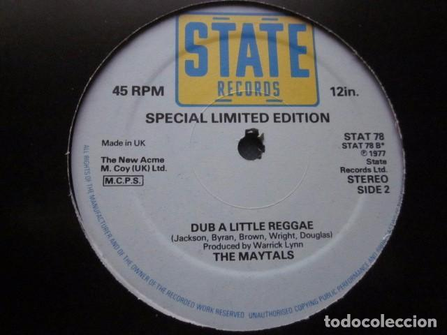 Discos de vinilo: THE MAYTALS - DISCO REGGAE - MAXI - 2 TEMAS - SPECIAL LIMITED EDITION FROM 1977. - Foto 3 - 114844183