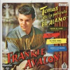Discos de vinilo: FRANKIE AVALON. TEMAS PELÍCULA EL ALAMO. HISPAVOX 1962. Lote 104114091