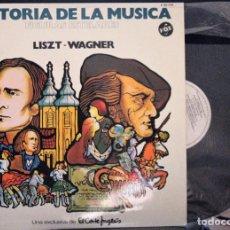 Discos de vinilo: REGALA-TE MÚSICA CLÁSICA: *HISTORIA DE LA MÚSICA* -LISTZ-WAGNER-. Lote 104116719