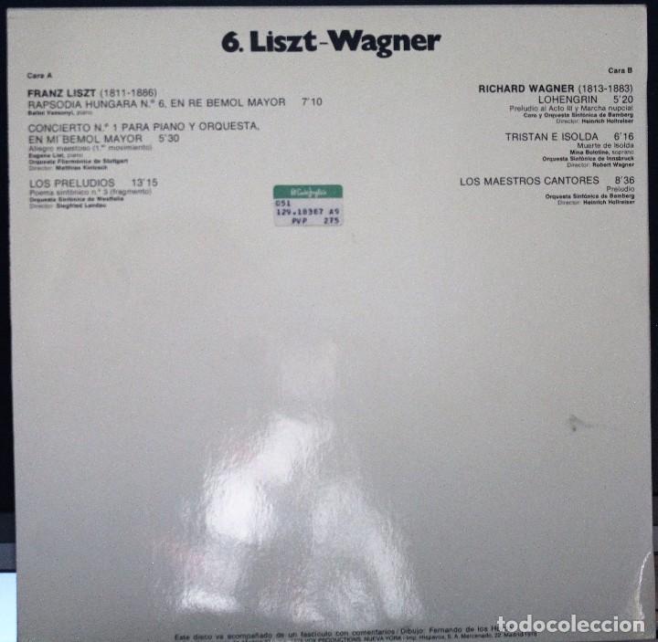 Discos de vinilo: REGALA-TE MÚSICA CLÁSICA: *HISTORIA DE LA MÚSICA* -LISTZ-WAGNER- - Foto 2 - 104116719
