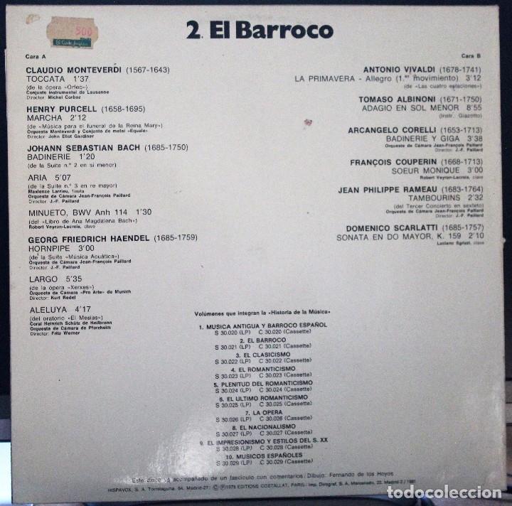 Discos de vinilo: REGALA-TE MÚSICA CLÁSICA: *HISTORIA DE LA MÚSICA* -EL BARROCO- - Foto 2 - 104116963
