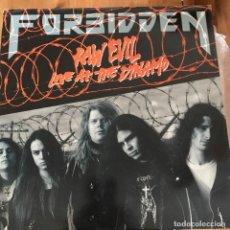 Discos de vinilo: FORBIDDEN - RAW EVIL - LIVE AT THE DYNAMO - MAXISINGLE UNDER ONE FLAG UK 1989. Lote 104117615