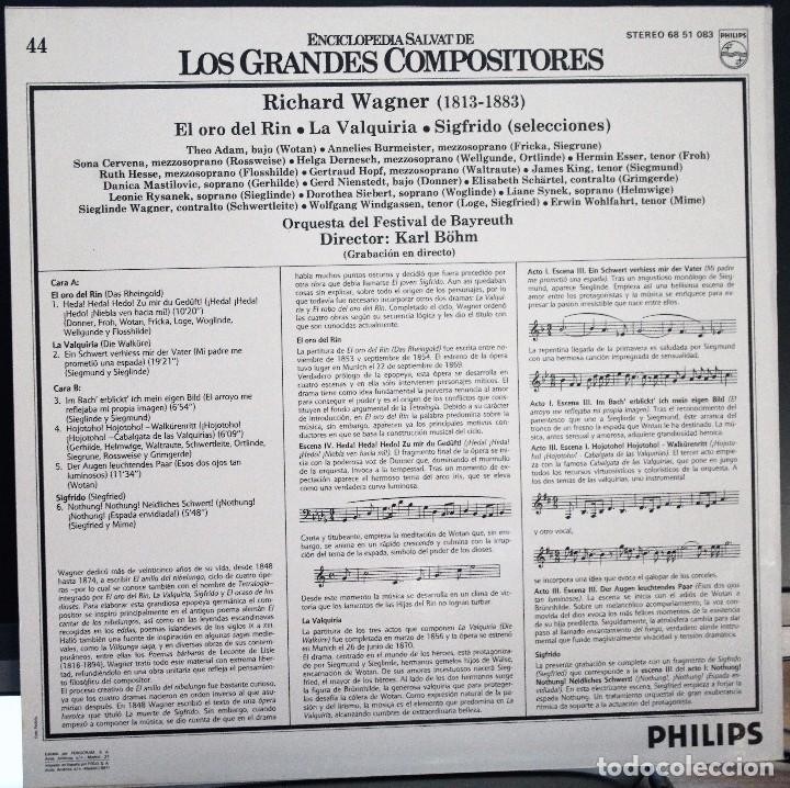 Discos de vinilo: REGALA-TE MÚSICA CLÁSICA: *LOS GRANDES COMPOSITORES* -Richard Wagner- Nº44 - Foto 2 - 104117747