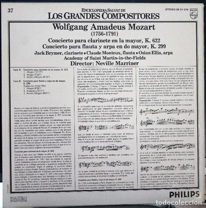Discos de vinilo: REGALA-TE MÚSICA CLÁSICA: *LOS GRANDES COMPOSITORES* -W.A. Mozart- Nº37 - Foto 2 - 104118035