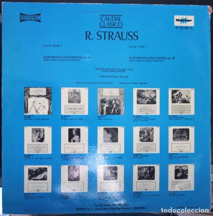 Discos de vinilo: REGALA-TE MÚSICA CLÁSICA: *CAUDAL CLÁSICO* -R. Strauss- Así habló Zaratustra. - Foto 2 - 104119563