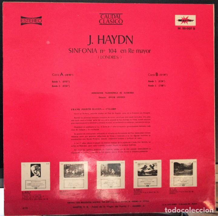 Discos de vinilo: REGALA-TE MÚSICA CLÁSICA: *CAUDAL CLÁSICO* -J. Haydn- Sinfonía nº 104 en Re mayor. - Foto 2 - 104119927