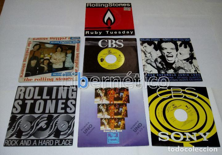 THE ROLLING STONES – RUBY TUESDAY – SEX DRIVE – BROWN SUGAR…– LOTE DE 7 SINGLES – 5 PROMO (Música - Discos de Vinilo - Singles - Pop - Rock Extranjero de los 80)