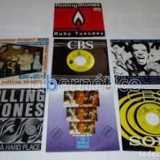 Discos de vinilo: THE ROLLING STONES – RUBY TUESDAY – SEX DRIVE – BROWN SUGAR…– LOTE DE 7 SINGLES – 5 PROMO. Lote 104131167