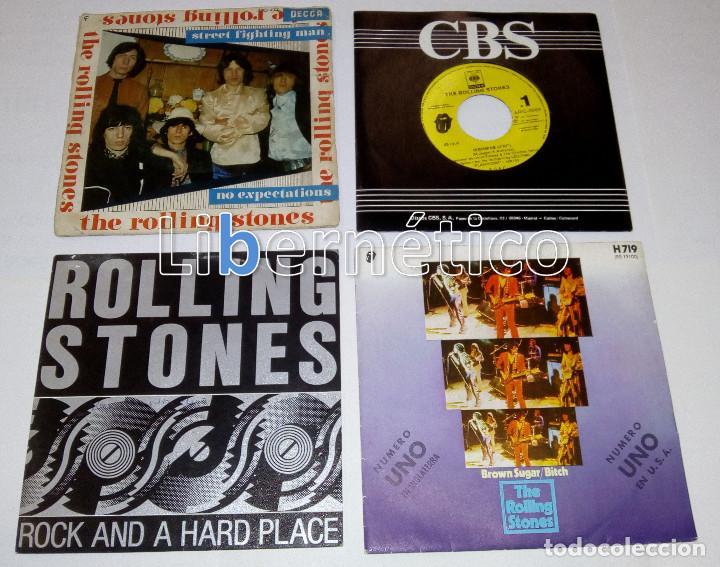 Discos de vinilo: The Rolling Stones – Ruby Tuesday – Sex Drive – Brown Sugar…– Lote de 7 singles – 5 Promo - Foto 2 - 104131167