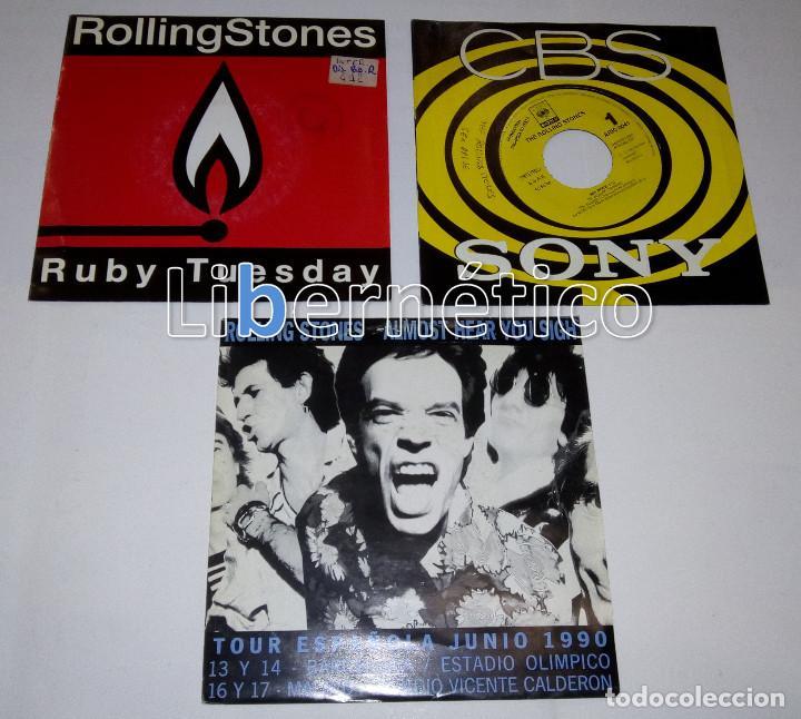 Discos de vinilo: The Rolling Stones – Ruby Tuesday – Sex Drive – Brown Sugar…– Lote de 7 singles – 5 Promo - Foto 5 - 104131167