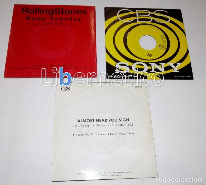 Discos de vinilo: The Rolling Stones – Ruby Tuesday – Sex Drive – Brown Sugar…– Lote de 7 singles – 5 Promo - Foto 6 - 104131167