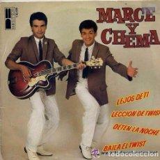 Discos de vinilo: MARCE Y CHEMA - DETEN LA NOCHE / BAILA EL TWIST / LECCION DE TWIST / LEJOS DE TI -SINGLE SPAIN 1980. Lote 104144995