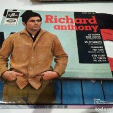 Discos de vinilo: EP RICHARD ANTHONY AU REVOIR NON AMOUR EX. Lote 104172415