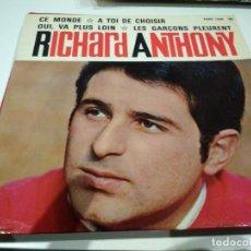 Discos de vinilo: EP RICHARD ANTHONY CE MONDE EX. Lote 104172907