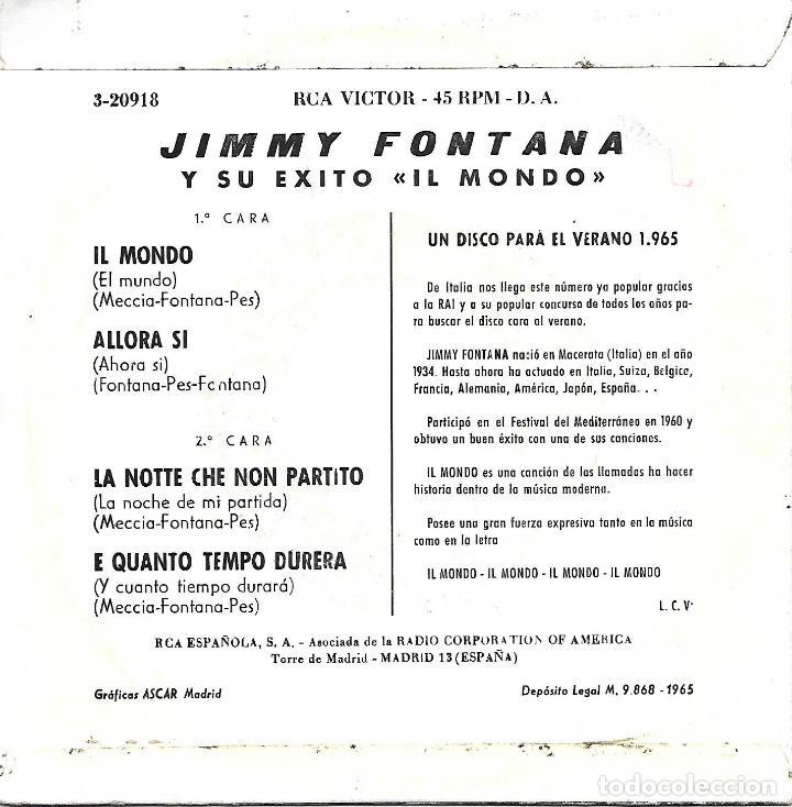 Jimmy Fontana Il Mondo Rca Victor 1965 Kaufen Vinyl