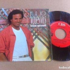 Discos de vinilo: JULIO IGLESIAS CORAÇAO APAIXONADO SINGLE MUY BUENA CONSERVACION 1985 . Lote 104181619