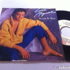 Discos de vinilo: LUIS MIGUEL PALABRA DE HONOR EDIC ESPAÑA MUY BUENA CONSERVACION. Lote 104182115