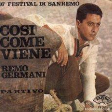 Discos de vinilo: REMO GERMANI - SINGLE 1966. Lote 104189735