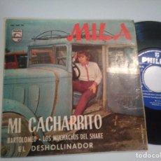 Discos de vinilo: EP-MILA-MI CACHARRITO-1966-SPAIN-. Lote 104196495