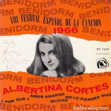 Discos de vinilo: ALBERTINA CORTES - POR QUE - EP RARO DE VINILO - CHICA YE YE. Lote 104196987