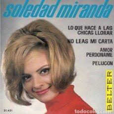 Discos de vinilo: SOLEDAD MIRANDA - PELUCON - EP RARO DE VINILO - CHICA YE YE. Lote 104197427