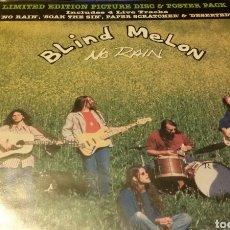 Discos de vinilo: MAXI VINILO PICTURE DISC BLIND MELON - NO RAIN. Lote 104217515