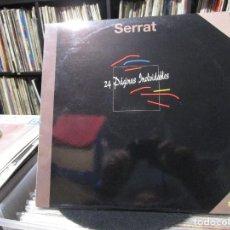Discos de vinilo: JOAN MANUEL SERRAT - 24 PÁGINAS INOLVIDABLES (2XLP, COMP) . Lote 104229883