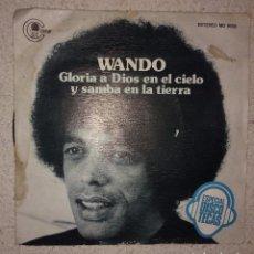 Discos de vinilo: WANDO / GLORIA A DIOS EN EL CIELO Y SAMBA EN LA TIERRA / LAMENTO DO CAPOERIA. Lote 104241091