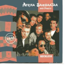 Discos de vinilo: AFRIKA BAMBAATAA WITH UB 40 - RECKLESS / MIND BODY AND SOUL (SINGLE ESPAÑOL, EMI 1988). Lote 104250167