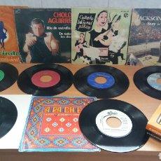 Discos de vinilo: LOTE DE DISCOS SINGLES Y SET LIMPIADISCOS.PEDIDO MINIMO 10€. Lote 104255964