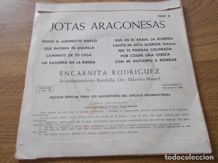Discos de vinilo: JOTAS ARAGONESAS. ENCARNITA RODRIGUEZ. - Foto 2 - 104261443