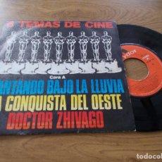 Discos de vinilo: 6 TEMAS DE CINE. CANTANDO BAJO LA LLUVIA,LA CONQUISTA DEL OESTE, DOCTOR ZHIVAGO.. Lote 104262907