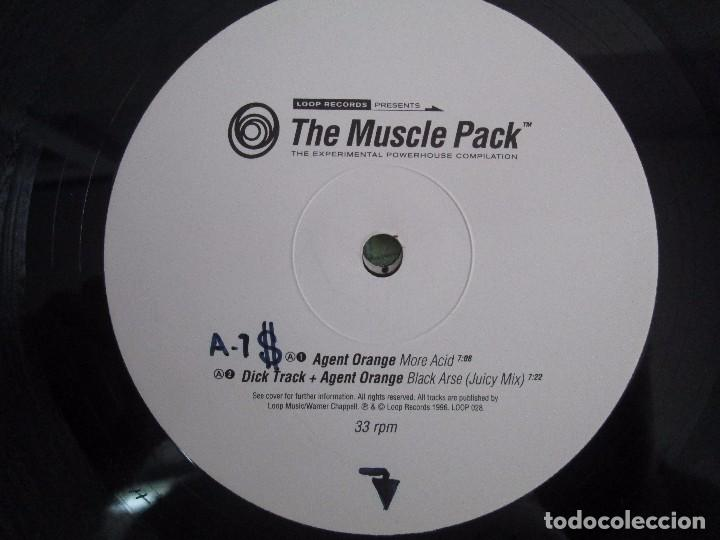 Discos de vinilo: THE MUSCLE PACK. THE EXPERIMENTAL POWEHOUS COMPILATION. EP VINILO .DOS DISCOS. LOOP RECORDS 1996 - Foto 4 - 104262947